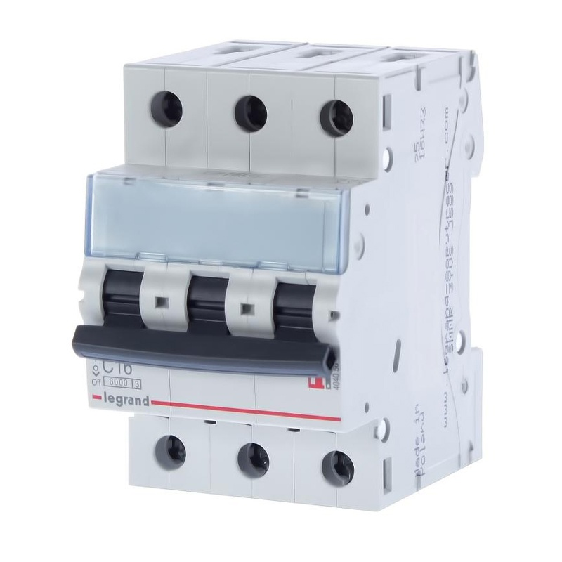 Автоматический выключатель Legrand TX3 6кА характеристика С 16А 3П