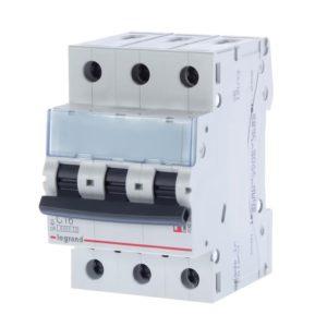 Автоматический выключатель Legrand TX3 6кА характеристика С 25А 3П