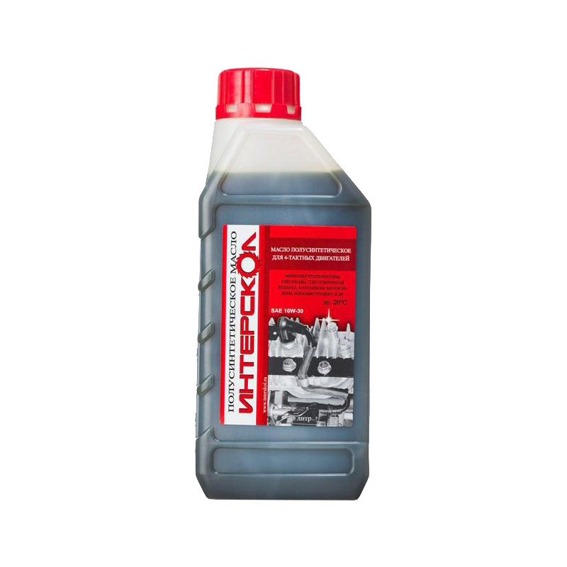 Масло для 4-х тактных двигателей полусинтетическое 1 л