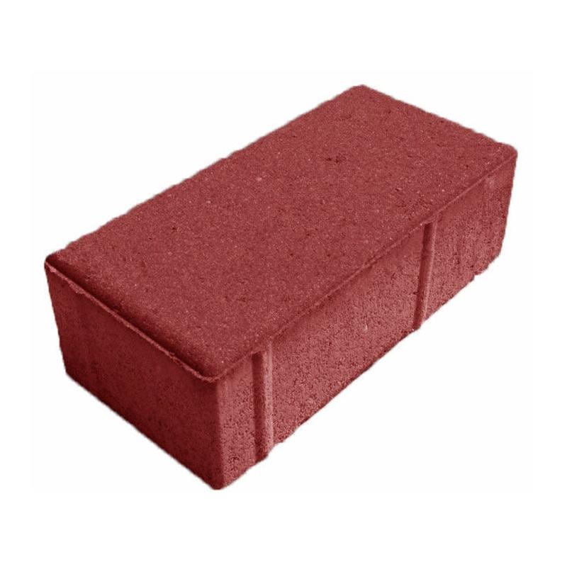Тротуарная плитка Брусчатка 200x100x60 мм красная