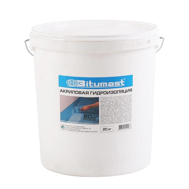 Акриловая гидроизоляция Битумаст, 20 кг