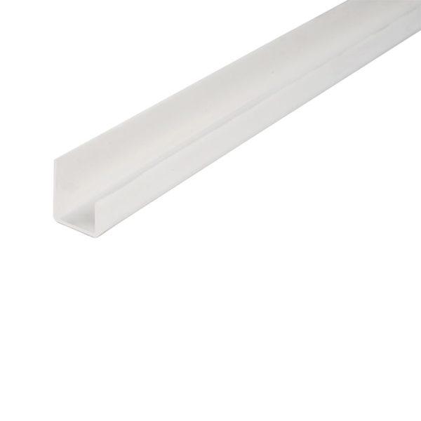 Профиль ПВХ L-образный окантовочный для ГКЛ, 12,5 мм, (3 м)