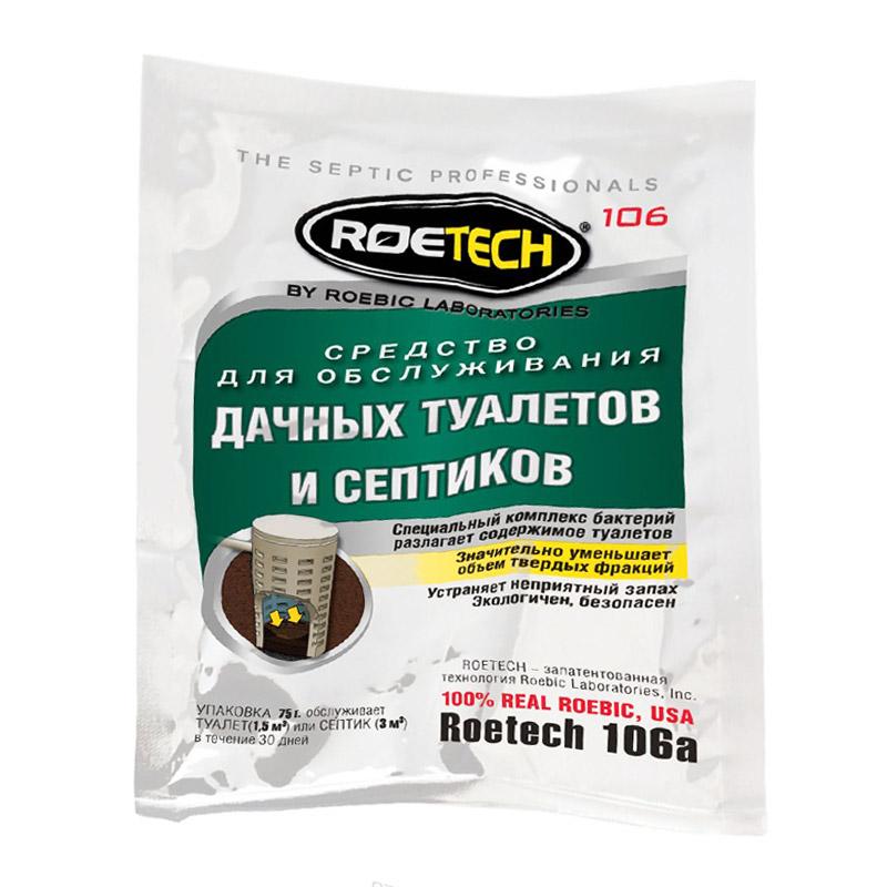 Средство ROETECH для обслуживания дачных туалетов и септиков (75 г)
