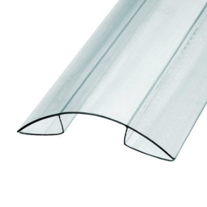 Профиль коньковый для поликарбоната 8x6000 мм б/цв.