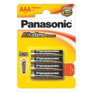 Элемент питания алкалиновый Panasonic, тип LR03/ААА, 1,5В (уп. 4 шт)