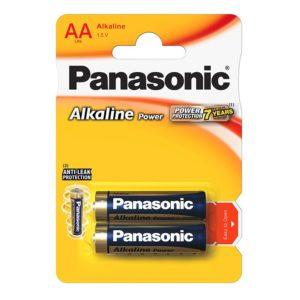 Элемент питания алкалиновый Panasonic, тип LR6/АА, 1,5В (уп. 2 шт)