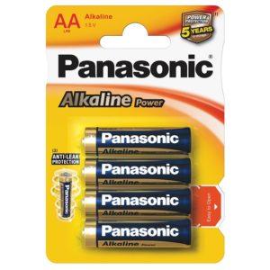 Элемент питания алкалиновый Panasonic, тип LR6/АА, 1,5В (уп. 4 шт)
