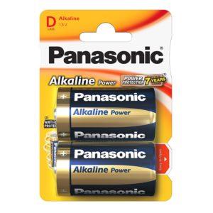 Элемент питания алкалиновый Panasonic, тип LR20/D, 1,5В (уп. 2 шт)