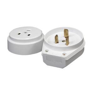 Разъем для плит РШ-ВШ 32А, 230В, 2Р+РЕ, о/у, IP20, белый