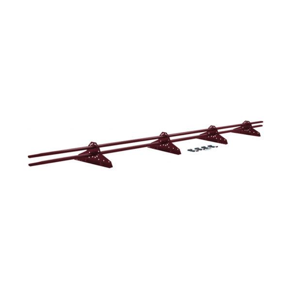 Снегозадержатель трубчатый для металлочерепицы, красное вино (RAL 3005) (3 м)