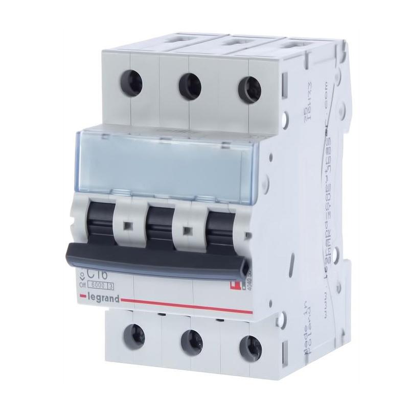 Автоматический выключатель Legrand TX3 6кА характеристика С 40А 3П