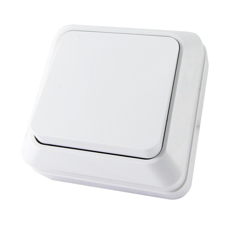 Выключатель о/у TDM Ладога SQ1801-0001, 1 клавиша, 10А, 230В, IP20, белый
