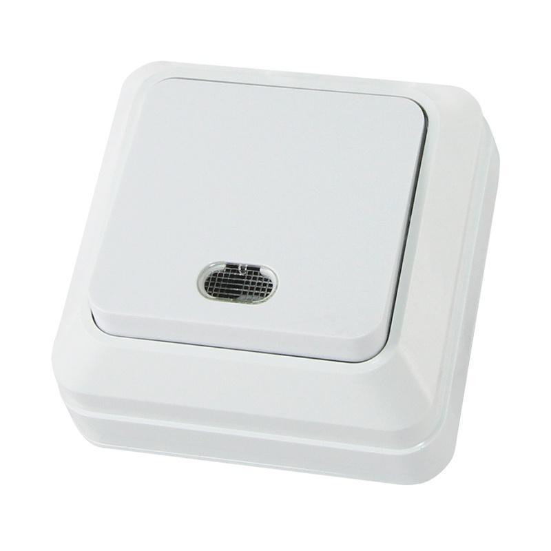 Выключатель о/у TDM Ладога SQ1801-0009, 1 клавиша, 10А, 230В, IP20, белый