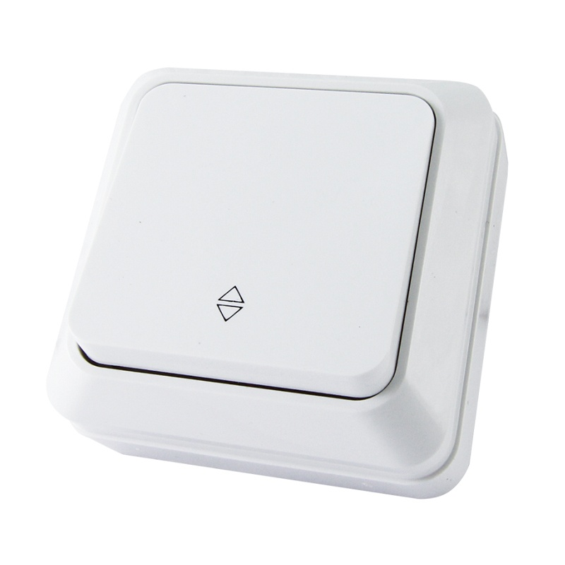 Переключатель о/у TDM Ладога SQ1801-0005, 1 клавиша, 10А, 230В, IP20, белый