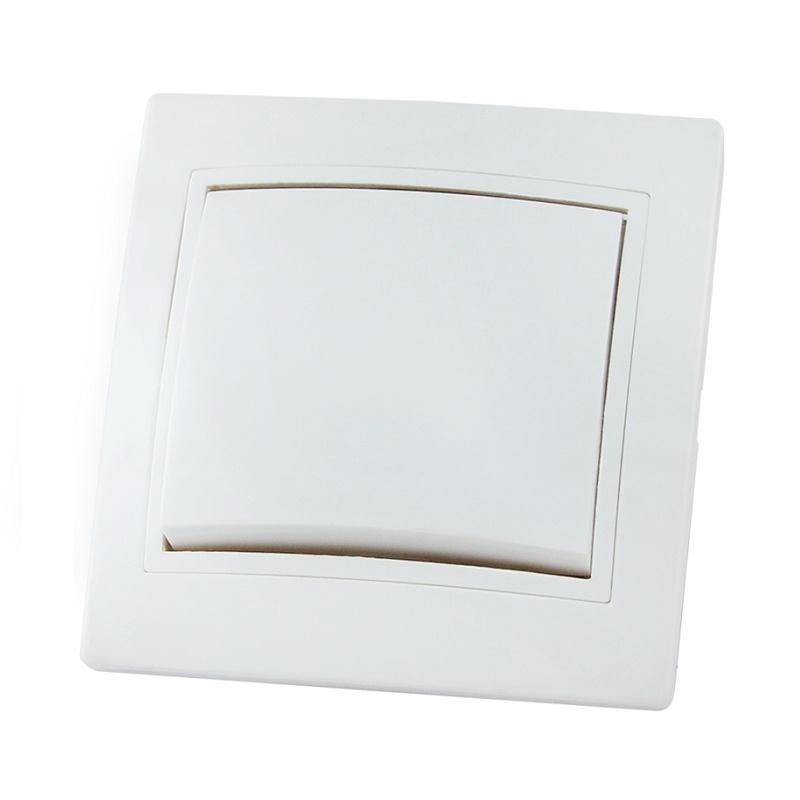 Выключатель в рамку с/у TDM Таймыр SQ1814-0001, 1 клавиша, 10А, 230В, IP20, керамика, белый
