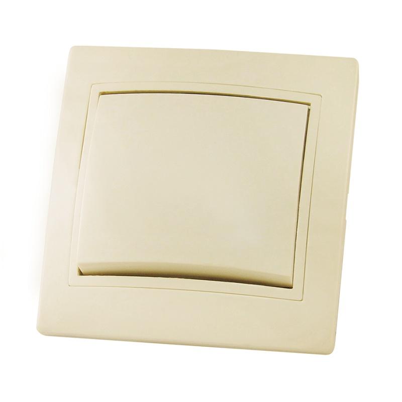 Выключатель в рамку с/у TDM Таймыр SQ1814-0101, 1 клавиша, 10А, 230В, IP20, керамика, сл.кость