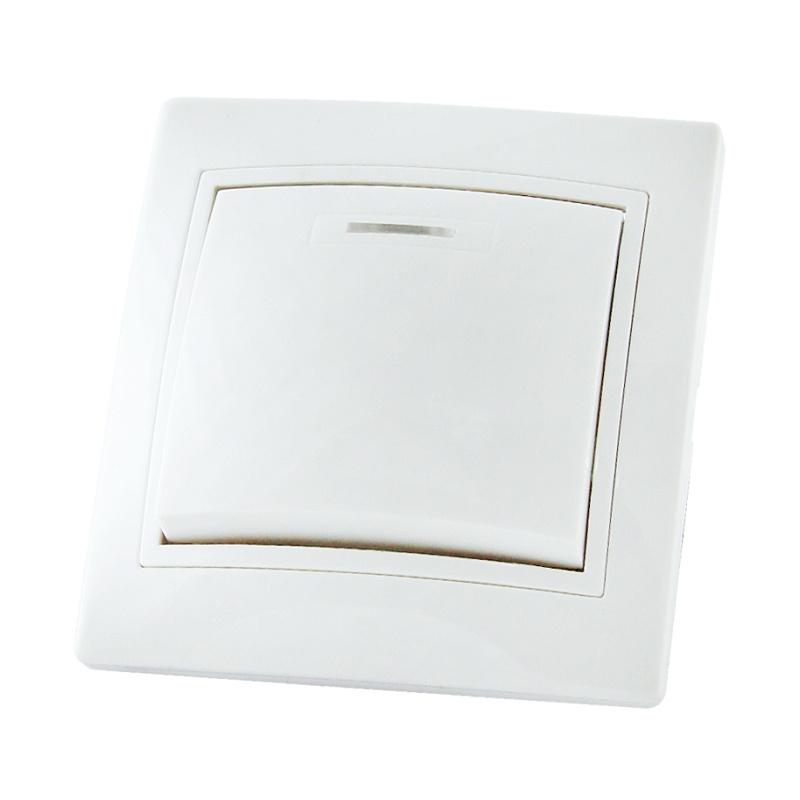 Выключатель в рамку с/у TDM Таймыр SQ1814-0004, 1 клавиша, 10А, 230В, IP20, керамика, белый