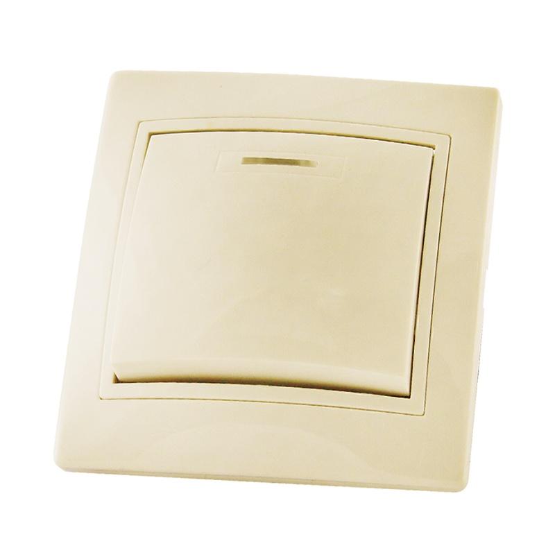 Выключатель в рамку с/у TDM Таймыр SQ1814-0104, 1 клавиша, 10А, 230В, IP20, керамика, сл.кость