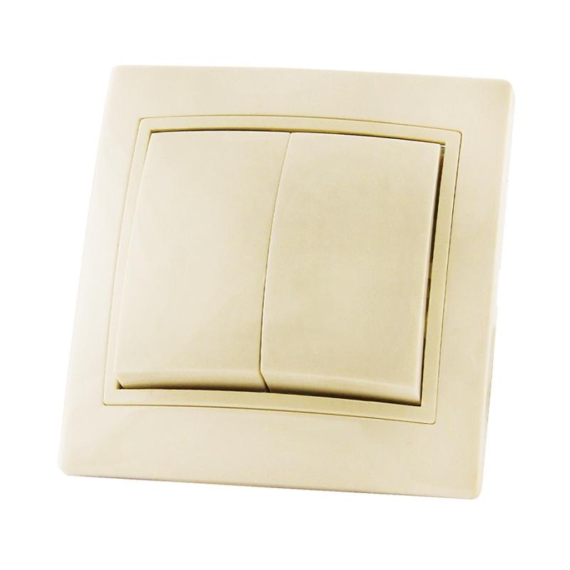 Выключатель в рамку с/у TDM Таймыр SQ1814-0102, 2 клавиши, 10А, 230В, IP20, керамика, сл.кость