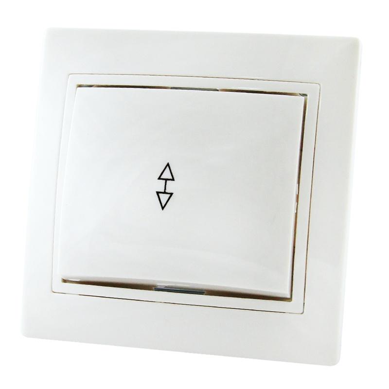 Переключатель в рамку с/у TDM Таймыр SQ1814-0007, 1 клавиша, 10А, 230В, IP20, керамика, белый