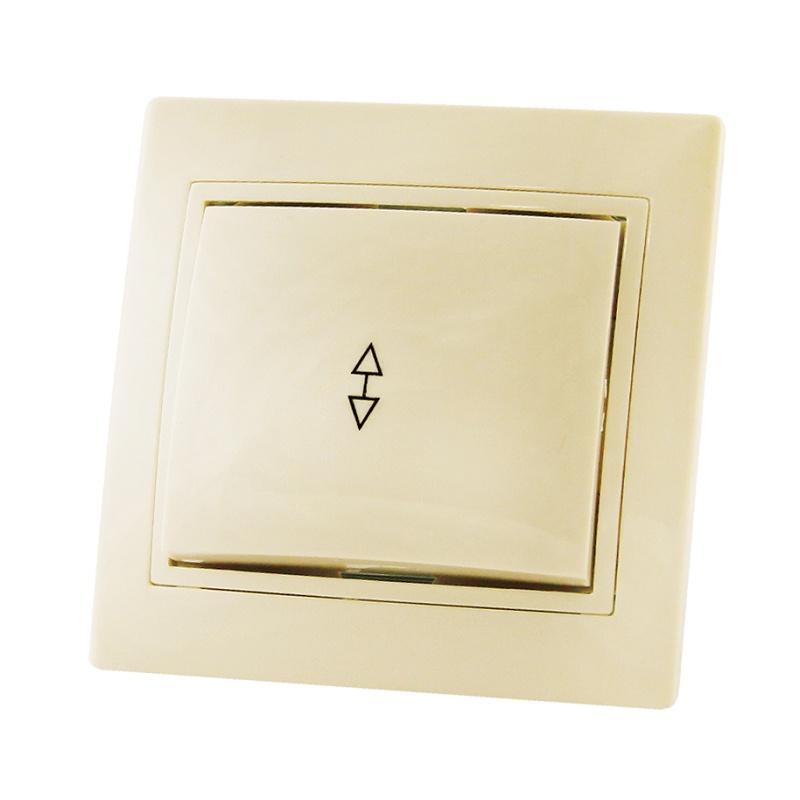 Переключатель в рамку с/у TDM Таймыр SQ1814-0107, 1 клавиша, 10А, 230В, IP20, керамика, сл.кость