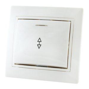 Переключатель в рамку с/у TDM Таймыр SQ1814-0008, 1 клавиша, 10А, 230В, IP20, керамика, белый