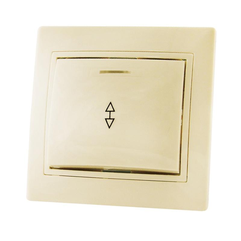Переключатель в рамку с/у TDM Таймыр SQ1814-0108, 1 клавиша, 10А, 230В, IP20, керамика, сл.кость