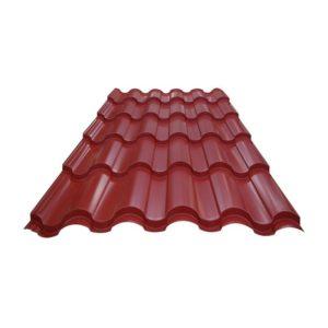 Металлочерепица (RAL 3005) красное вино 1190x2250x0,4 мм (2,68 м2)