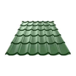 Металлочерепица (RAL 6005) зеленый мох 1190x1200x0,4 мм (1,428 м2)