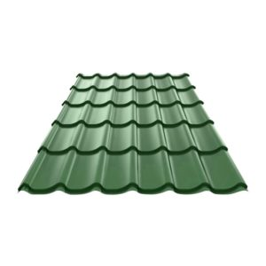 Металлочерепица (RAL 6005) зеленый мох 1190x2250x0,4 мм (2,68 м2)