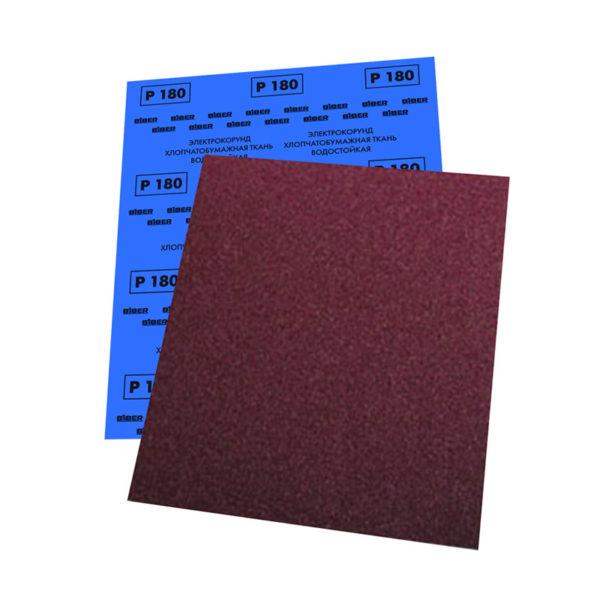 Шкурка шлифовальная Biber 70655 Р100 на ткан. основе водостойкая (10 л.)