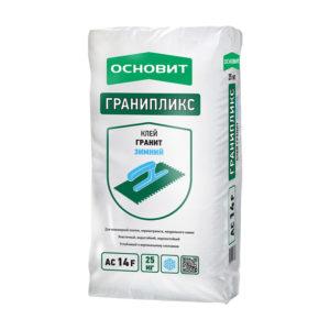 Клей для плитки и керамогранита Основит Гранпликс AC14 F цементный, зимний, 25 кг