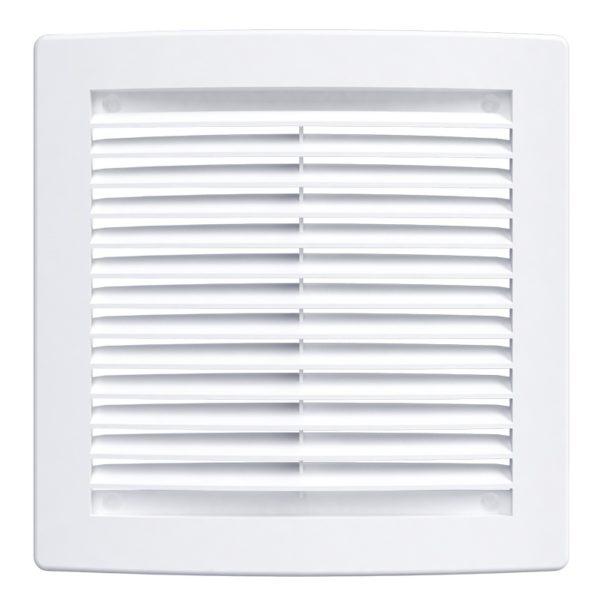 Решетка вентиляционная 150x150 мм, 1515РЦ, с сеткой, пластик, белая