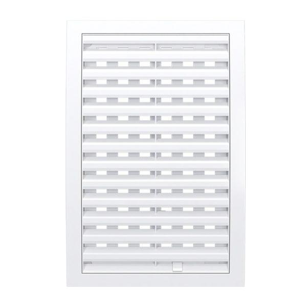 Решетка вентиляционная регулир. 200x300 мм, 2030РРП, пластик, белая