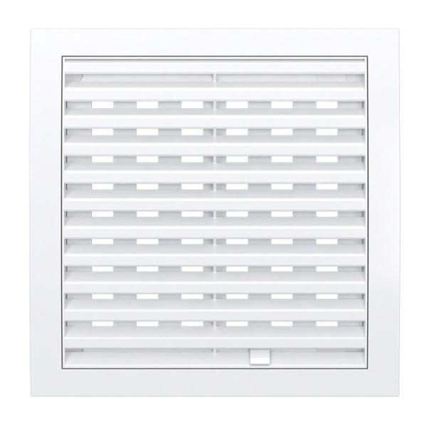 Решетка вентиляционная регулир. 250x250 мм, 2525РРП, пластик, белая