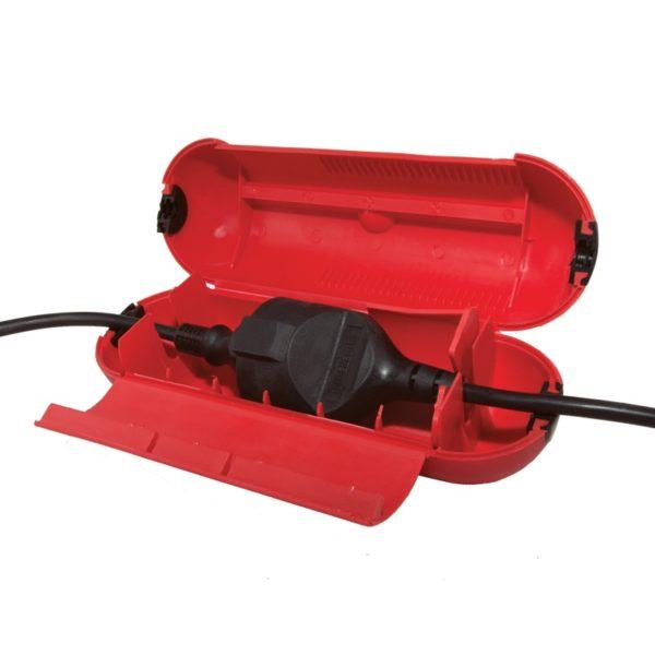 Бокс пластиковый д/защиты кабельного соединения, IP44, красный