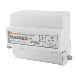 Счетчик электр. 5-60А, 3*230/400В, 1 кл.точн, 3 фазн, 1 тариф, мех.отчетн.устр., DIN-рейка, белый