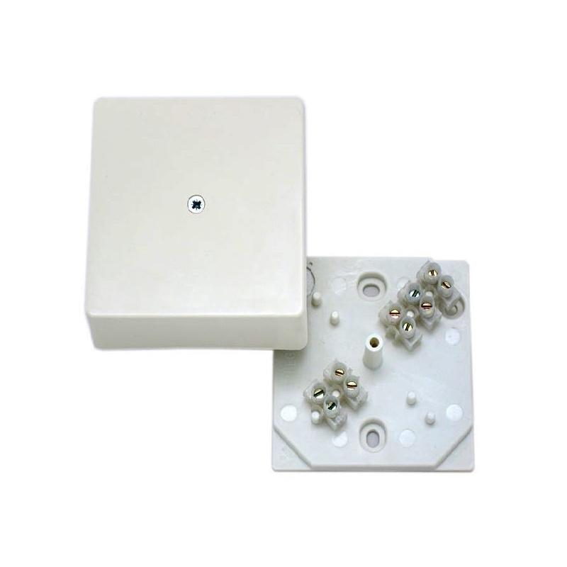 Коробка разветвительная о/у Hegel КРК-2702-И 75х75х30мм с клеммником, белая