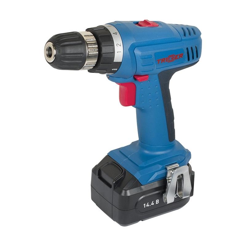 Дрель-шуруповерт Trigger 10/14,4 (20002), 2 аккумулятора, кейс