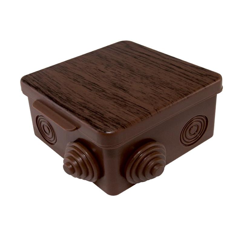 Коробка разветвительная о/у, 100х100х55мм, бук, IP54, с крышкой (8 вводов)
