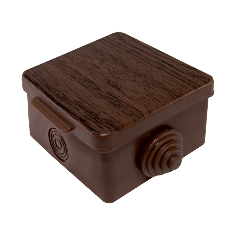 Коробка разветвительная о/у, 65х65х50мм, бук, IP54, с крышкой (4 ввода)