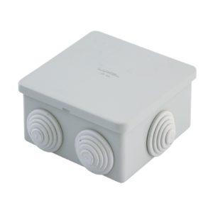 Коробка разветвительная о/у, 80х80х40 мм, IP44 (6 вводов)