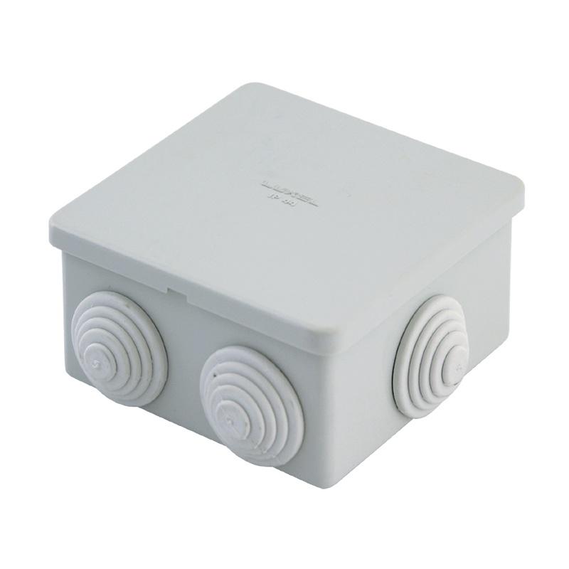 Коробка разветвительная о/у, 100х100х55 мм, IP55 (6 вводов)