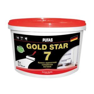 Краска в/д GOLD STAR 7 акрилатная супербелая (0,9 л)