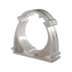 Опора (клипса) пластиковая с верхн. защелкой для труб 40 мм (уп 5 шт)