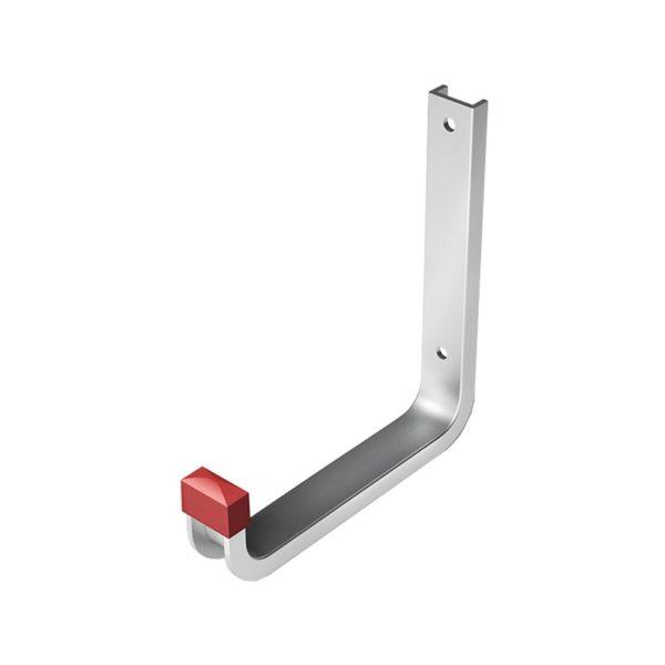 Крюк настенный, 80x120 мм, алюминий, серебро анод.