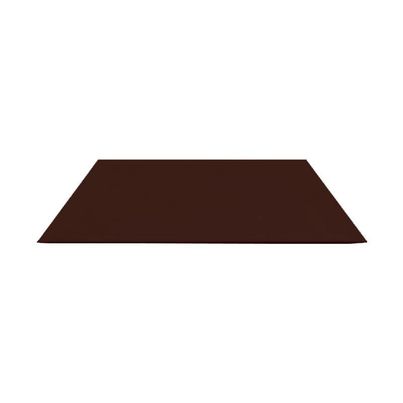 Лист гладкий оц. (RAL 8017) корич. шоколад 1250x2000x0,4 мм (2,5 м2)