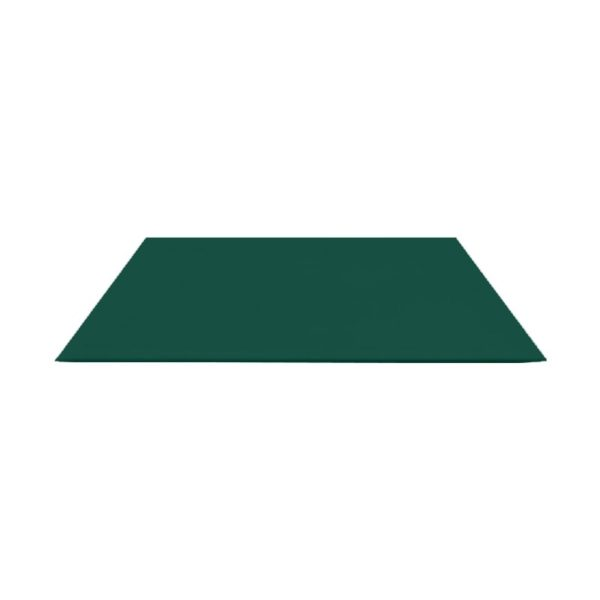 Лист гладкий оцинк. (RAL 6005) зеленый мох 1250x2000x0,4 мм (2,5 м2)