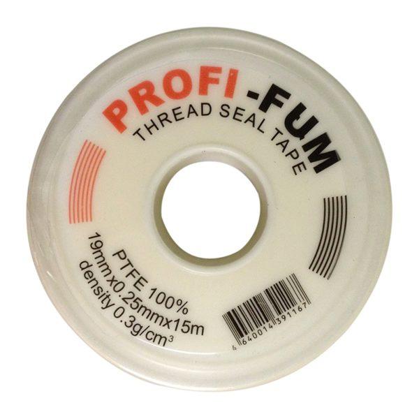 Фум-лента, 19 мм x 0,25 мм x 15 м, профессиональная, для газа