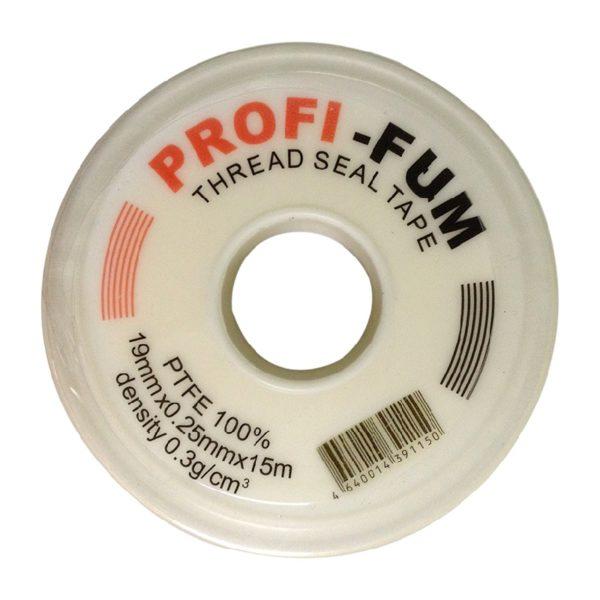 Фум-лента, 19 мм x 0,25 мм x 15 м, профессиональная, для воды